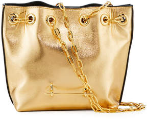 M2Malletier Mini Metallic Leather Bucket Bag