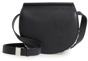 Givenchy Mini Infinity Calfskin Leather Saddle Bag - Black