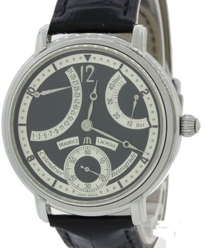 Maurice Lacroix Calendrier MP6338 Retrograde Stainless Steel 43mm Mens Watch