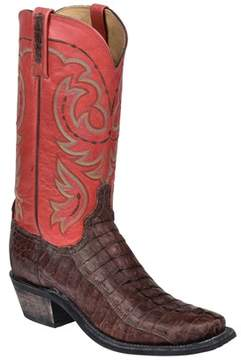 Lucchese Men's Sienna Stonewashed Leather Tail Western Boot.