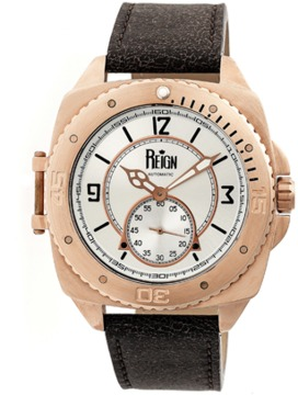 Reign Churchill Leather-band Automatic Watch.