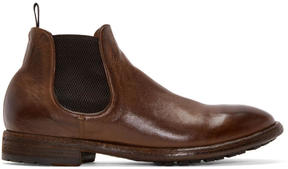 Officine Creative Brown Princeton Chelsea Boots