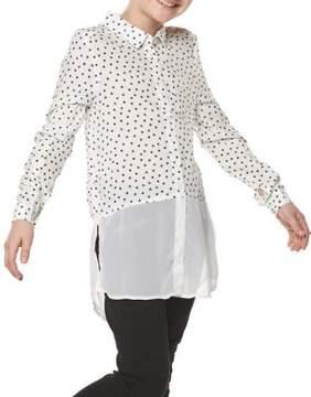 Dex Girl's Printed Button-Down Shirt