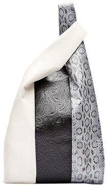 Hayward Mixed Leather & Snakeskin Shopper Tote Bag, Multi