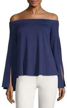 Susana Monaco Off-The-Shoulder Bell-Sleeve Top