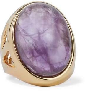 Kenneth Jay Lane Gold-Tone Stone Ring