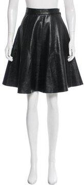 Prabal Gurung Leather Knee-Length Skirt