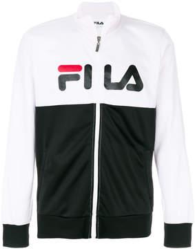 Fila logo front zip up sweatshirt