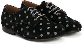 Pépé dot pattern lace-up shoes