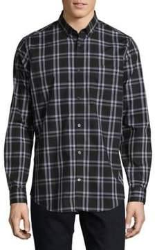 Calvin Klein Plaid Cotton Casual Button-Down Shirt