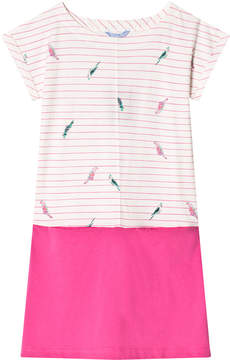 Joules Cream Stripe and Pink Jersey Dress