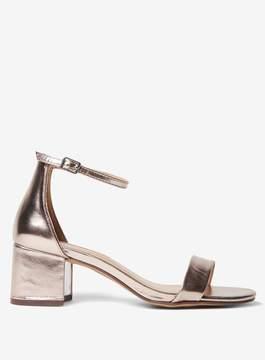 Dorothy Perkins Gold 'Saint' Block Heel Sandals