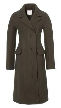 Tibi Felted Wool Drop Shoulder Corset Coat