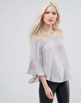 AX Paris Bardot Top With Flute Sleeves