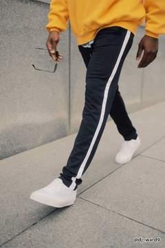 21men 21 MEN Contrast Stripe Knit Joggers
