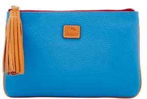 Dooney & Bourke Patterson Leather Carrington Pouch - AZURE - STYLE