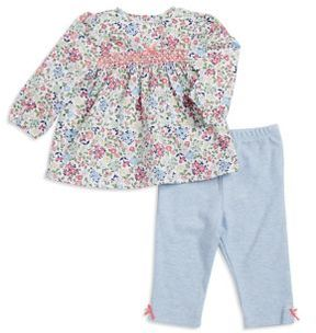 Little Me Baby Girls Two-Piece Floral Cotton Top and Leggings Set