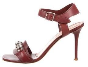 Celine Chain-Embellished Ankle Strap Sandals