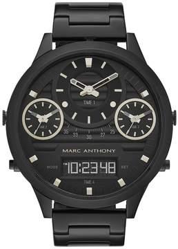 Marc Anthony Men's Modern Masculinity Black Stainless Steel Analog & Digital Watch