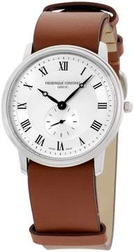 Frederique Constant Slimline FC-235M4S6BROWN Stainless Steel 37mm Mens Watch
