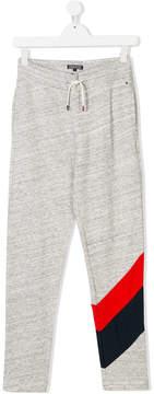 Tommy Hilfiger Junior TEEN stripe-trimmed track pants