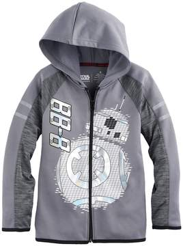 Star Wars A Collection For Kohls Boys 4-7x a Collection for Kohl's Episode VII The Force Awakens Foiled BB-8 Zip Hoodie