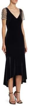 Theia Velvet Stretch Dress