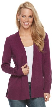 Croft & Barrow Women's Heathered Open-Front Cardigan