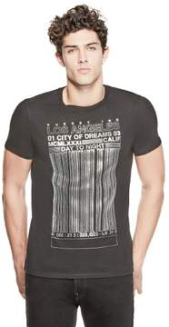 GUESS Men's Barcode Graphic Tee