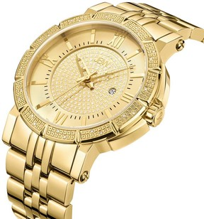 JBW Men's Vault 0.24 ctw Diamond 18K Gold-Plated Watch