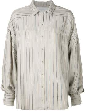 Esteban Cortazar striped pattern loose shirt