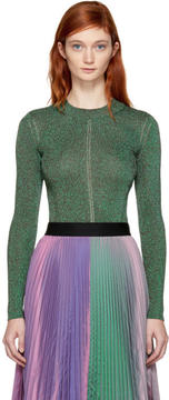 Christopher Kane Green Metallic Pullover