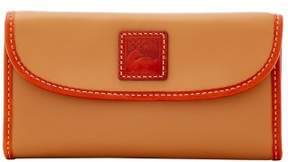 Dooney & Bourke Wexford Leather Continental Clutch Wallet - DARK TAUPE - STYLE