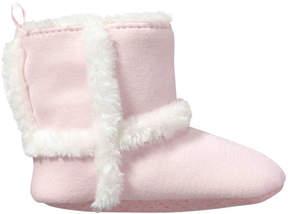 Joe Fresh Baby Girls' Faux Fur Slipper Boots, Pink (Size XL)