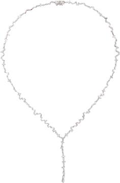 Suzanne Kalan 18K White Gold and Diamond Necklace