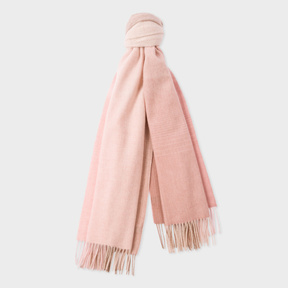 Paul Smith Women's Light Pink Ombré Lambswool-Cashmere Scarf