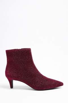 Forever 21 Metallic Kitten Heel Ankle Boots