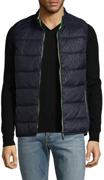 Armani Exchange Men's Stand Collar Quilted Vest