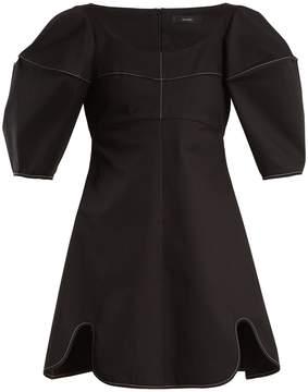 Ellery Utopian contrast-stitch cotton-twill mini dress