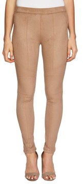 1 STATE Women's 1.state Seamed Faux Suede Leggings