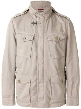 Fay fitted flap pocket jacket