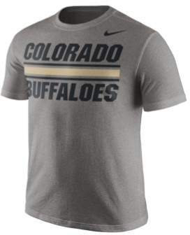 Nike Mens Colelge Stripe Graphic T-Shirt Grey S