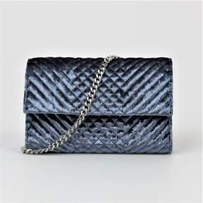 Vince Camuto Fayne Quilted Velvet Small Clu Dusty Blue $148