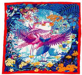 One Kings Lane Vintage Hermès Cashmere Flamingo 55 Shawl