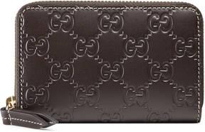 Gucci Signature card case - BROWN GUCCI SIGNATURE - STYLE