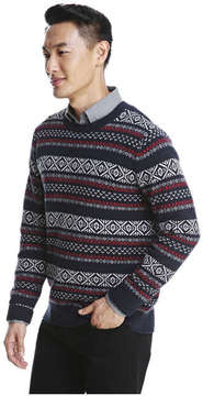 Joe Fresh Men's Fair Isle Sweater, JF Midnight Blue (Size S)