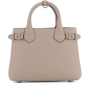 Burberry Pink Leather Handle Bag - PINK - STYLE