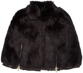 Givenchy Faux Fur Leather Cape