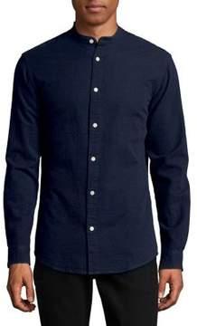 Selected Seersucker Cotton Button-Down Shirt