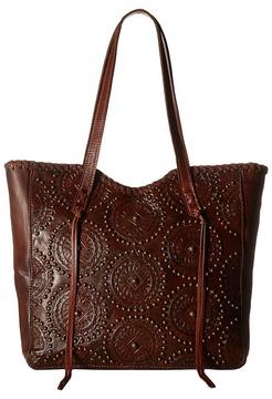 American West Kachina Spirit Large Zip Top Tote Tote Handbags